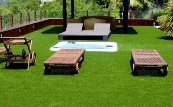 Ưu điểm của cỏ nhân tạo sân vườn